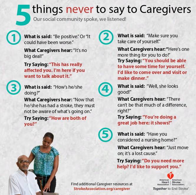 5 Things Never to Say to a Caregiver